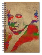 President John Adams Watercolor Portrait Spiral Notebook