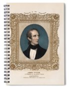 President John Tyler - Vintage Color Portrait Spiral Notebook