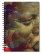 President Kennedy - Digital Art Spiral Notebook