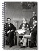 President Lincoln And His Cabinet Spiral Notebook
