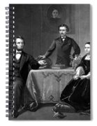 President Lincoln And His Family  Spiral Notebook