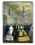 President Lincoln's Last Reception Spiral Notebook