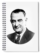 President Lyndon Johnson Graphic - Black And White Spiral Notebook