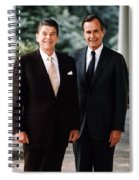 President Reagan And George H.w. Bush - Official Portrait  Spiral Notebook