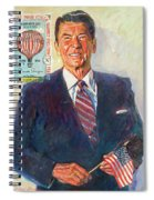 President Reagan Balloon Stamp Spiral Notebook