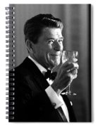 President Reagan Making A Toast Spiral Notebook