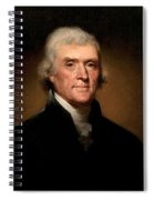 President Thomas Jefferson  Spiral Notebook