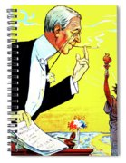 President Woodrow Wilson And The 15th Proposition For The League Of Nations Spiral Notebook