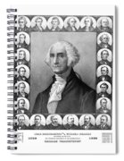 Presidents Of The United States 1789-1889 Spiral Notebook