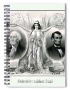 Presidents Washington And Lincoln Spiral Notebook