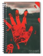 Pressing Terror Spiral Notebook