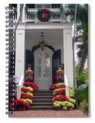 Pretty Christmas Decoration In Key West Spiral Notebook