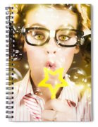 Pretty Geek Girl At Birthday Party Celebration Spiral Notebook