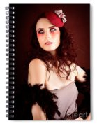 Pretty Glamour Fashion Girl On Red Backlight Spiral Notebook