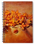 Pretty Little Orange Flowers - Kankaambaram Spiral Notebook