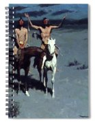 Pretty Mother Of The Night White Otter Is No Longer A Boy 1900 Spiral Notebook