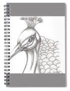 Pretty Peacock Spiral Notebook