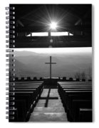 Pretty Place Aka Fred W. Symmes Chapel Black And White Spiral Notebook