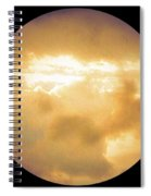 Pretty Storm Clouds With Sun Shine Spiral Notebook