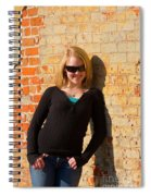 Pretty Teen In Jeans Spiral Notebook