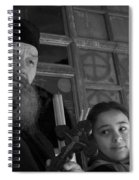 Priest And A Young Girl  Spiral Notebook