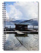 Priest Lake Boat Dock Reflection Spiral Notebook