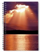 Priest Lake Sunset Heavenly Light Spiral Notebook