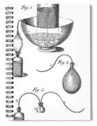 Priestleys Gas Manipulating Apparatus Spiral Notebook