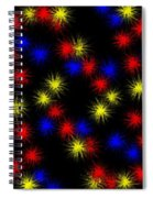 Primary Bursts Under Glass Spiral Notebook