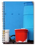 Primary Colors - Paint Buckets On A Ship Spiral Notebook