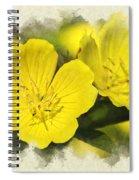 Primrose Flowers Blank Note Card Spiral Notebook
