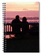 Evening Hill Sunset Spiral Notebook