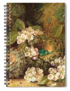 Primroses And Bird's Nests On A Mossy Bank Spiral Notebook