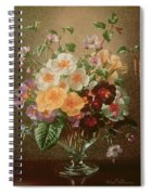 Primulas In A Glass Vase  Spiral Notebook