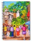 Prince Arthur Street Montreal Spiral Notebook