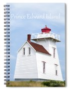 Prince Edward Island Lighthouse Poster Spiral Notebook