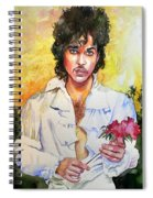 Prince Rogers Nelson Holding A Rose Spiral Notebook