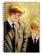 Prince William And Prince Harry Spiral Notebook