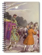 Princess Augusta, About To Give Birth, Was Bundled Into A Coach Spiral Notebook