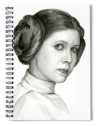 Princess Leia Watercolor Portrait Spiral Notebook