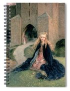 Princess With A Spindle Spiral Notebook
