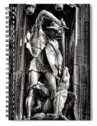 Princeton University Saint George And Dragon Sculpture Spiral Notebook