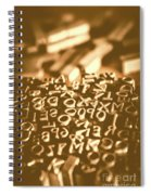 Print Industry Typographic Letters And Numbers Spiral Notebook