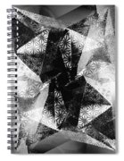 Prismatic Vision - Black And White Spiral Notebook