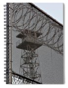 Prison Tower And Fence Spiral Notebook