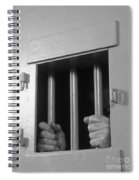 Prisoners Hands Gripping Bars, C.1980s Spiral Notebook