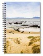 Pristine Beach Background Spiral Notebook