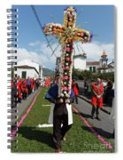 Procession In Furnas - Azores Spiral Notebook