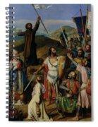 Procession Of Crusaders Around Jerusalem Spiral Notebook