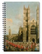 Procession Of The Knights Of The Bath Spiral Notebook